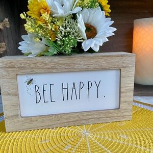 NEW RELEASE - Rae Dunn - BEE HAPPY - wood sign 😃